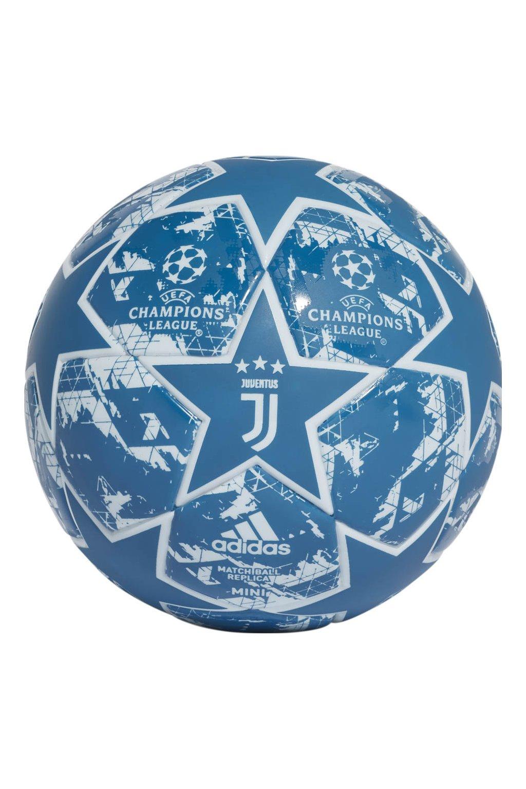 Futbalová adidas Finale Juventus Mini modrá a biela DY2540