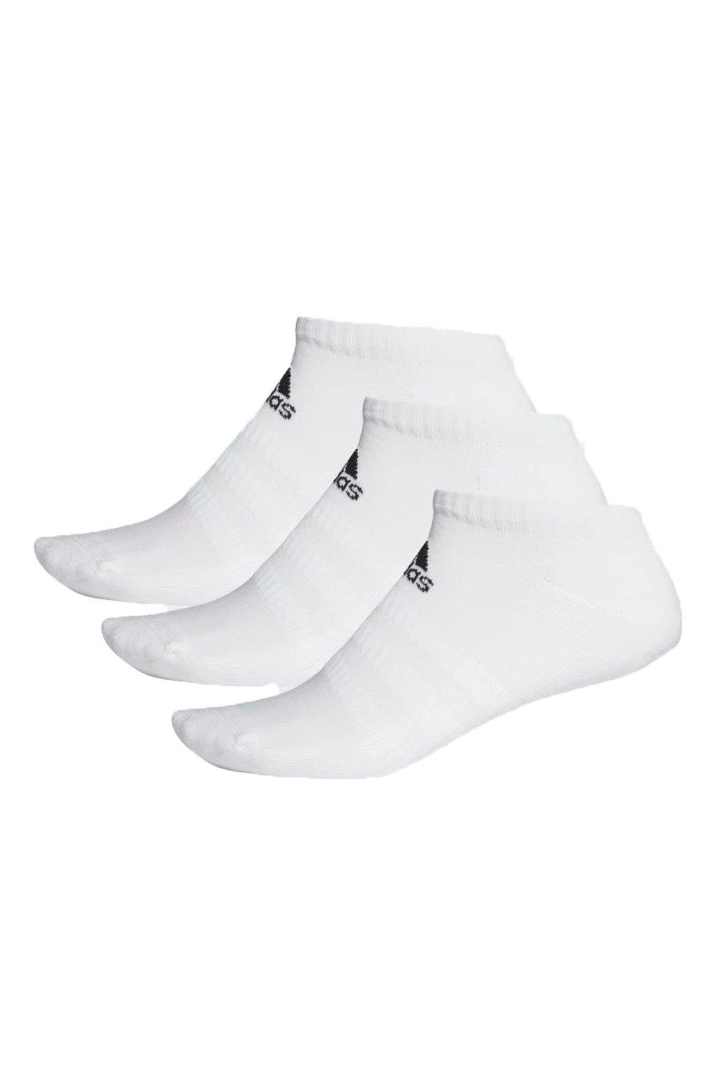 Ponožky Adidas Cushlined Low 3PP biele DZ9384