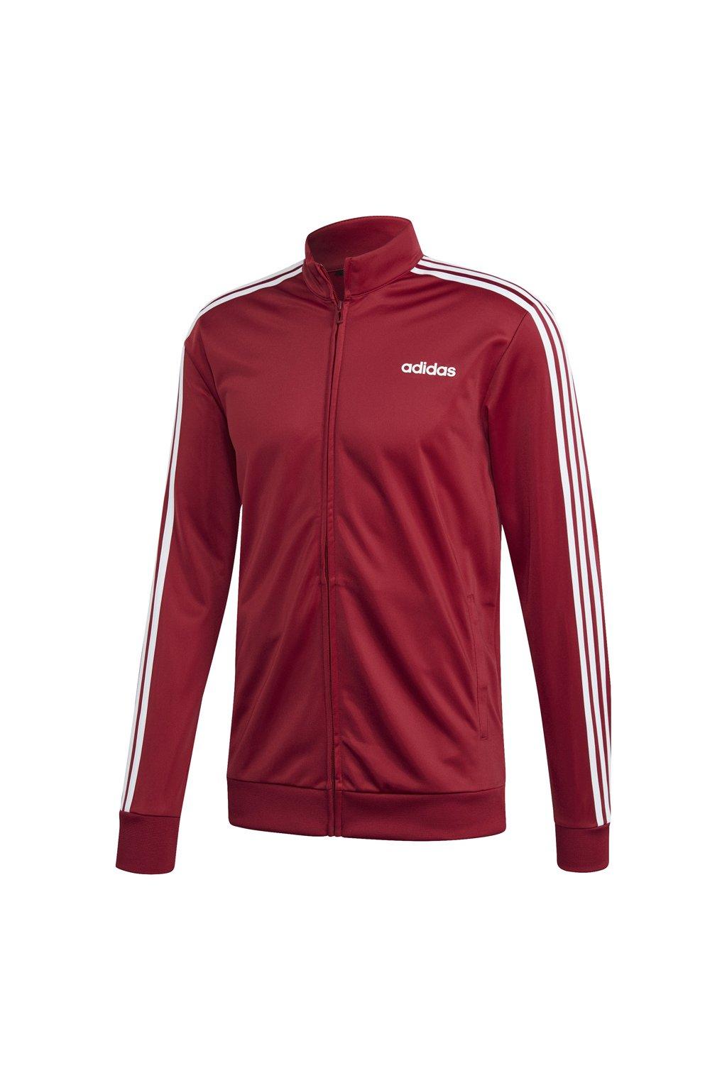 Pánska mikina Adidas Essentials 3 Stripes Tricot Track Top, červená EI4891