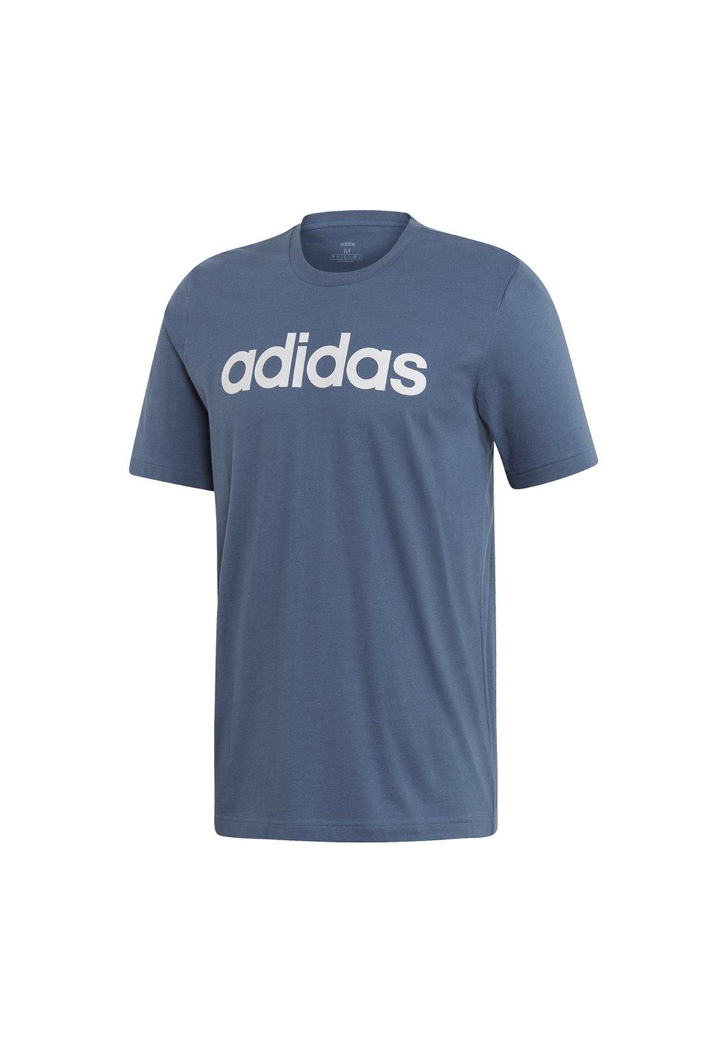 Pánske modré tričko Adidas Essentials Linear Tee FI0864