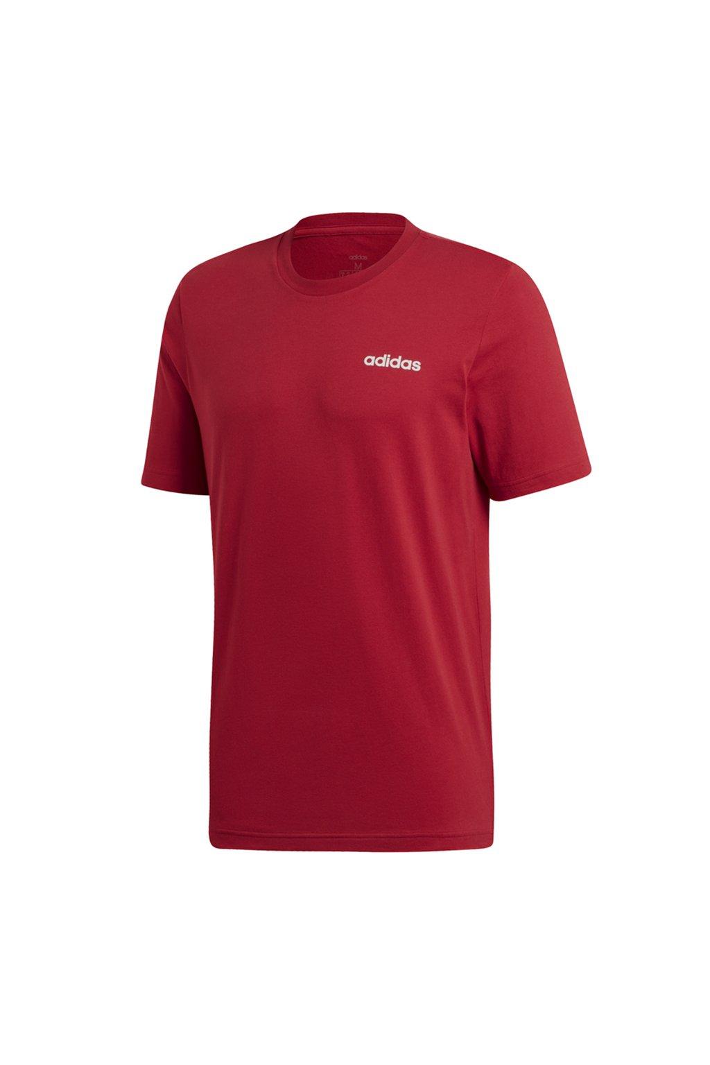Pánske tričko Adidas Essentials Plain Tee vínová EI9780