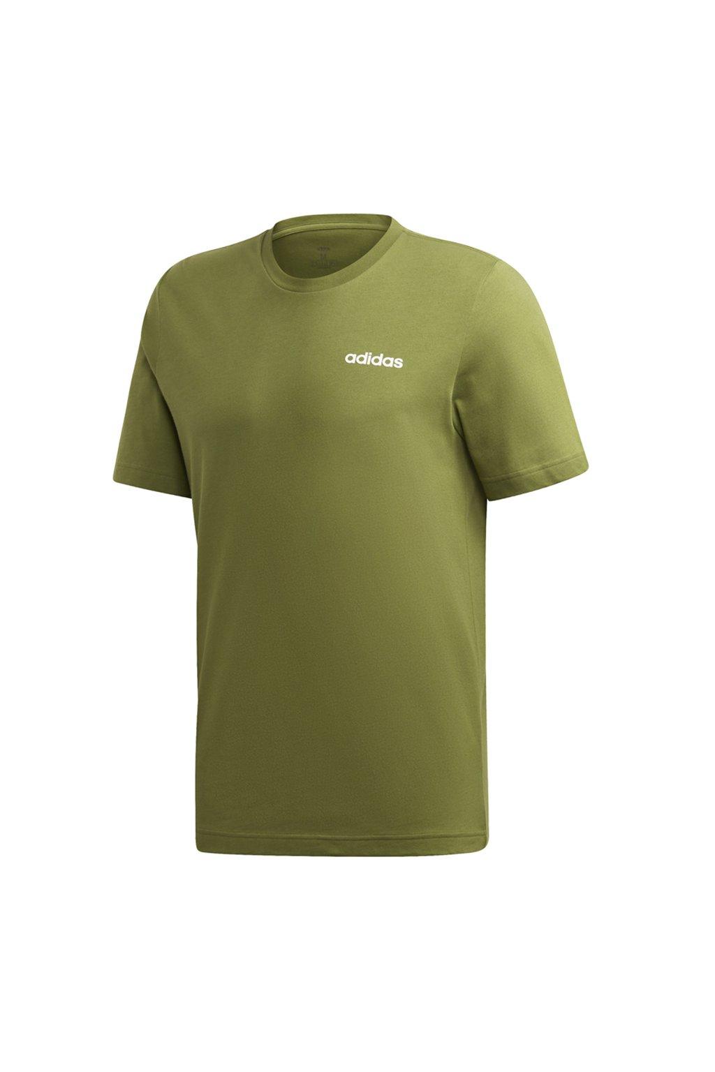 Pánske zelené tričko Adidas Essentials Plain Tee EI9781