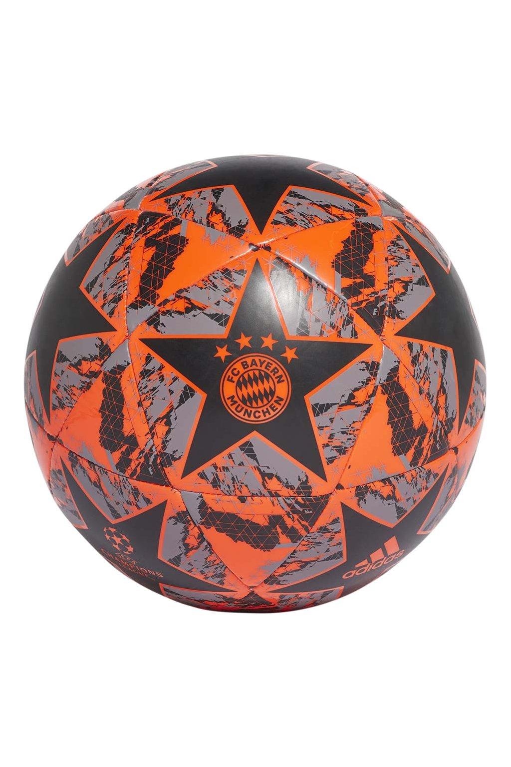 Futbalová lopta Adidas Finale FC Bayern Capitano čierno-oranžovo-šedá DY2543