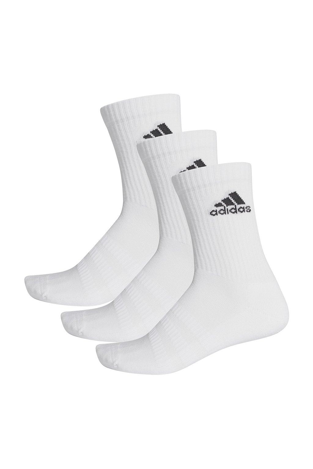 Ponožky Adidas Cushlined Crew 3PP biele DZ9356