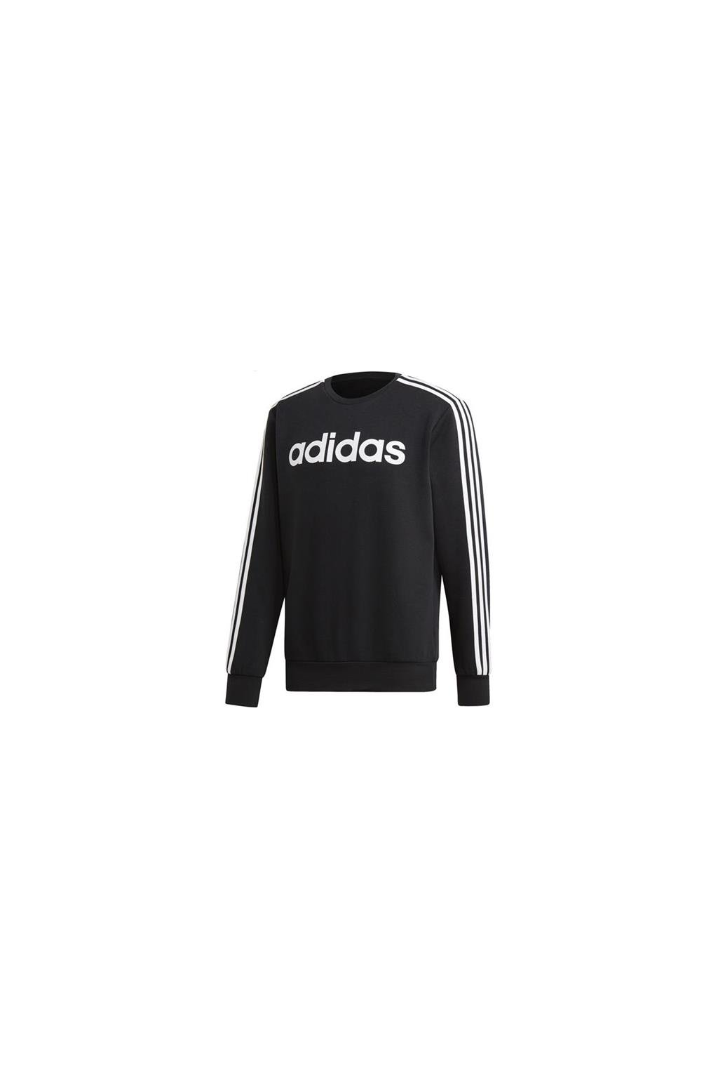 bluza meska adidas essentials 3s crew fl czarna dq