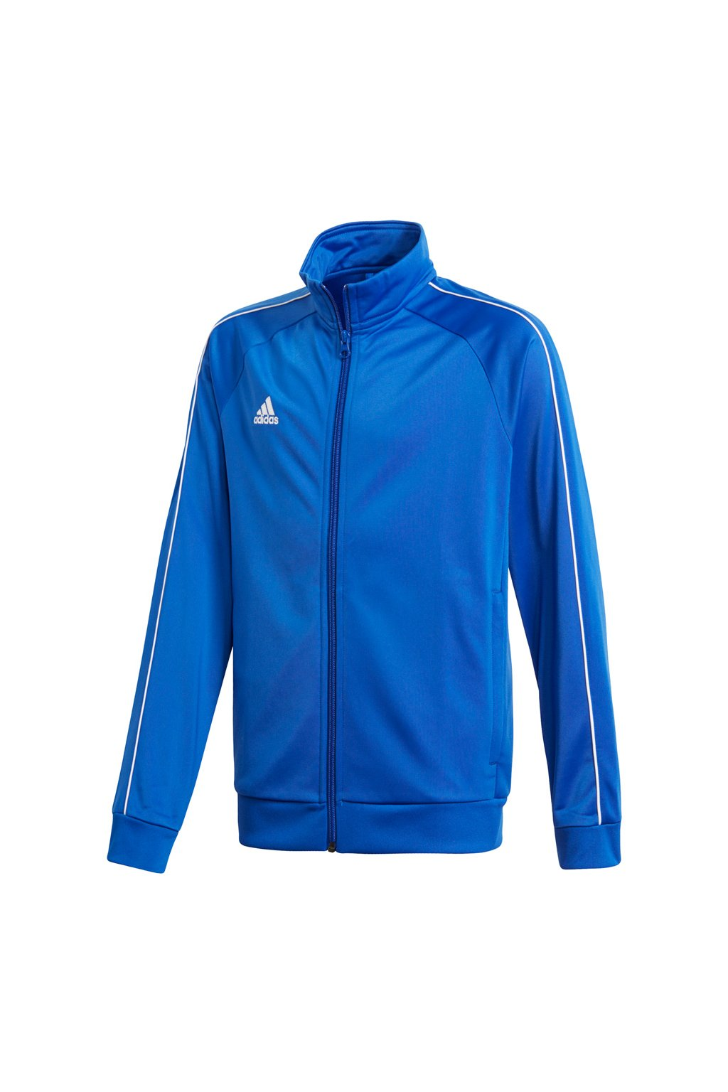 Detská mikina Adidas Core 18 Polyester Jacket JUNIOR modrá CV3578