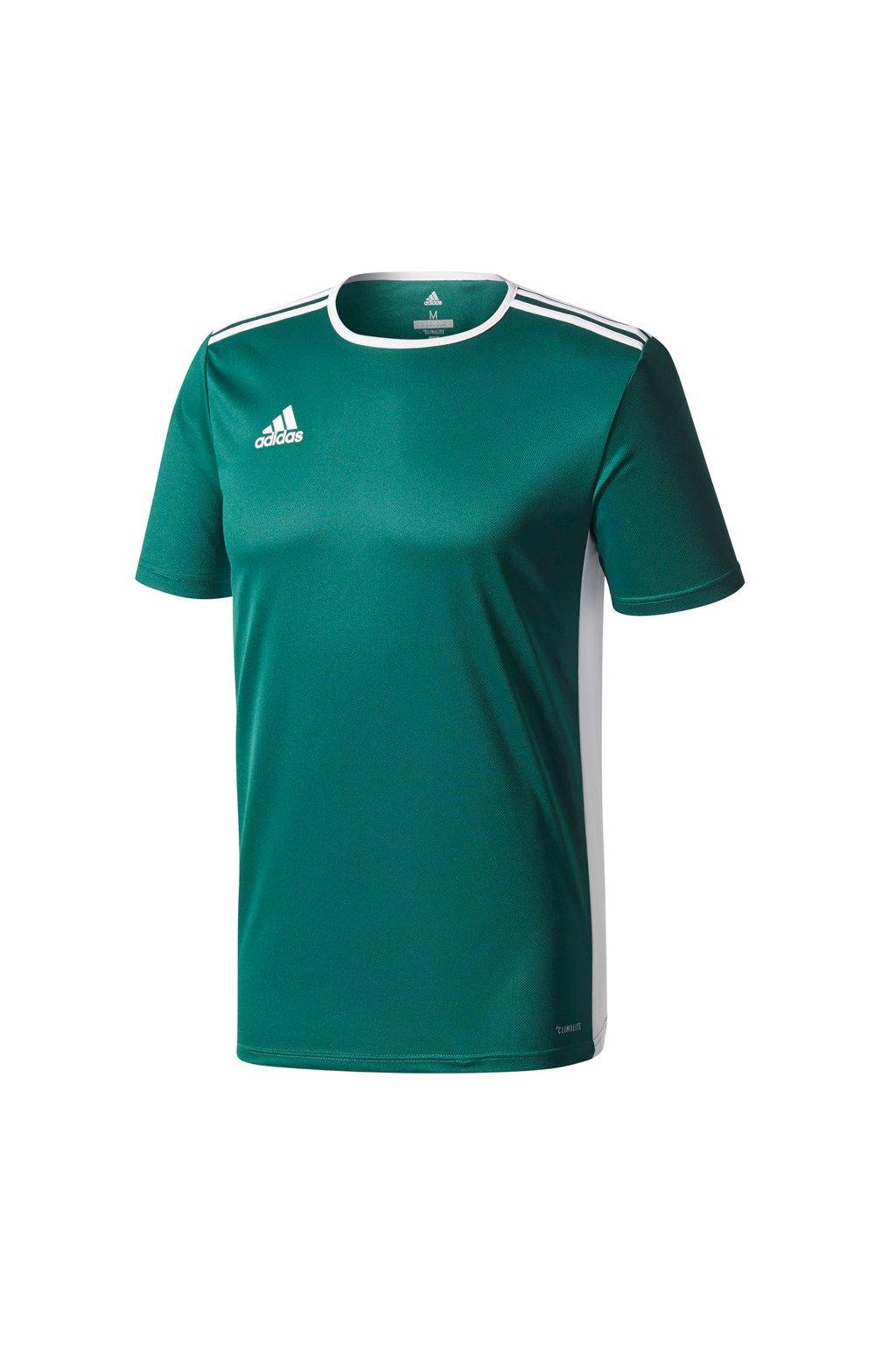 Detské tričko Adidas Entrada 18 JUNIOR zelené CD8358