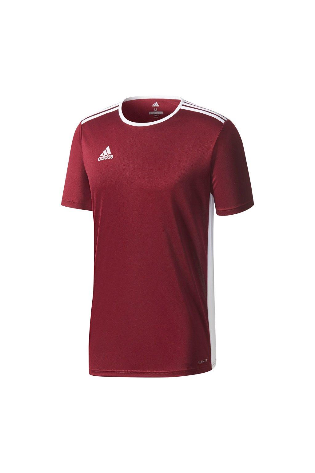Adidas Entrada 18 Jersey pánske tričko bordové CD8430