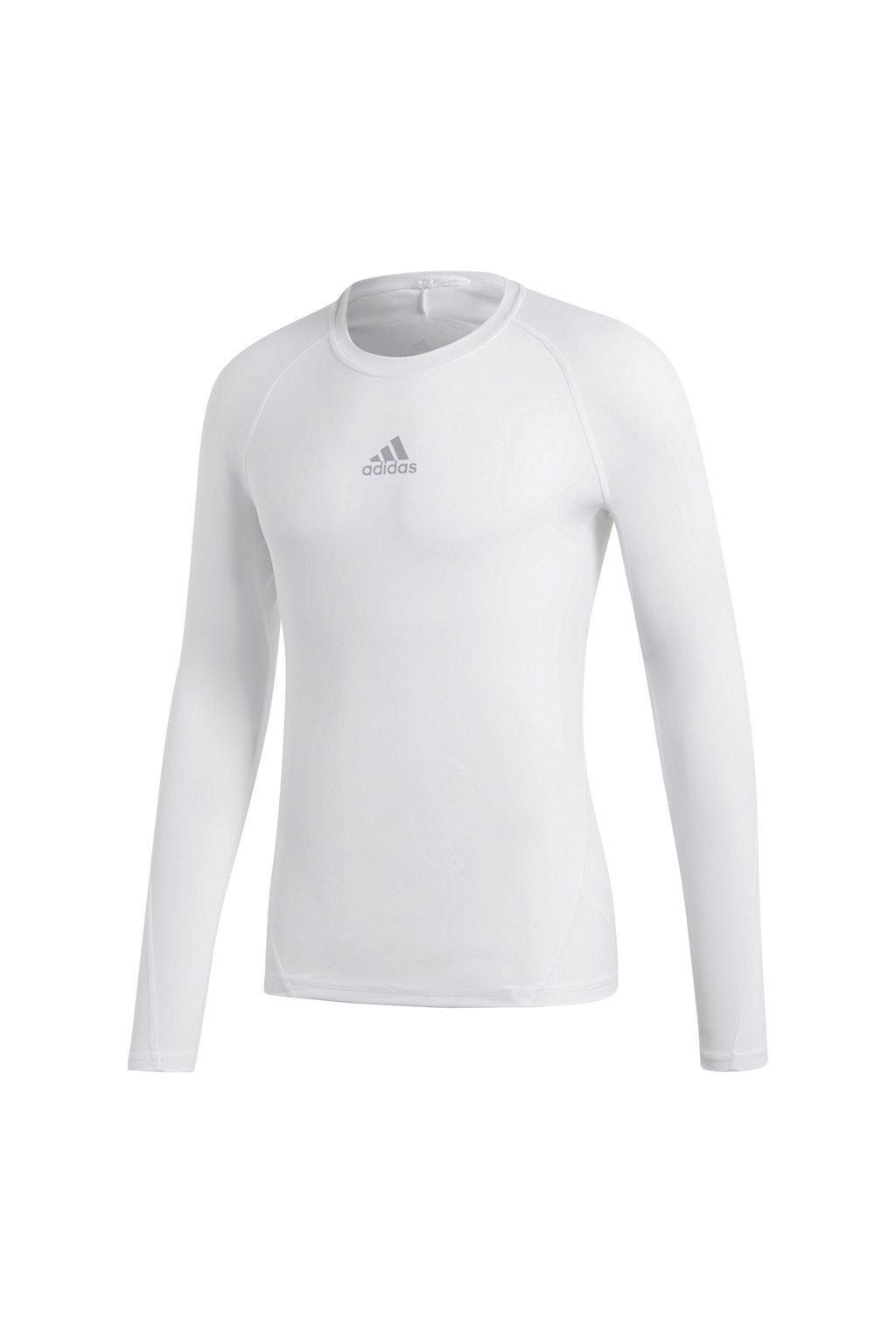 Pánske tričko Adidas Alphaskin Sport LS Tee white CW9487