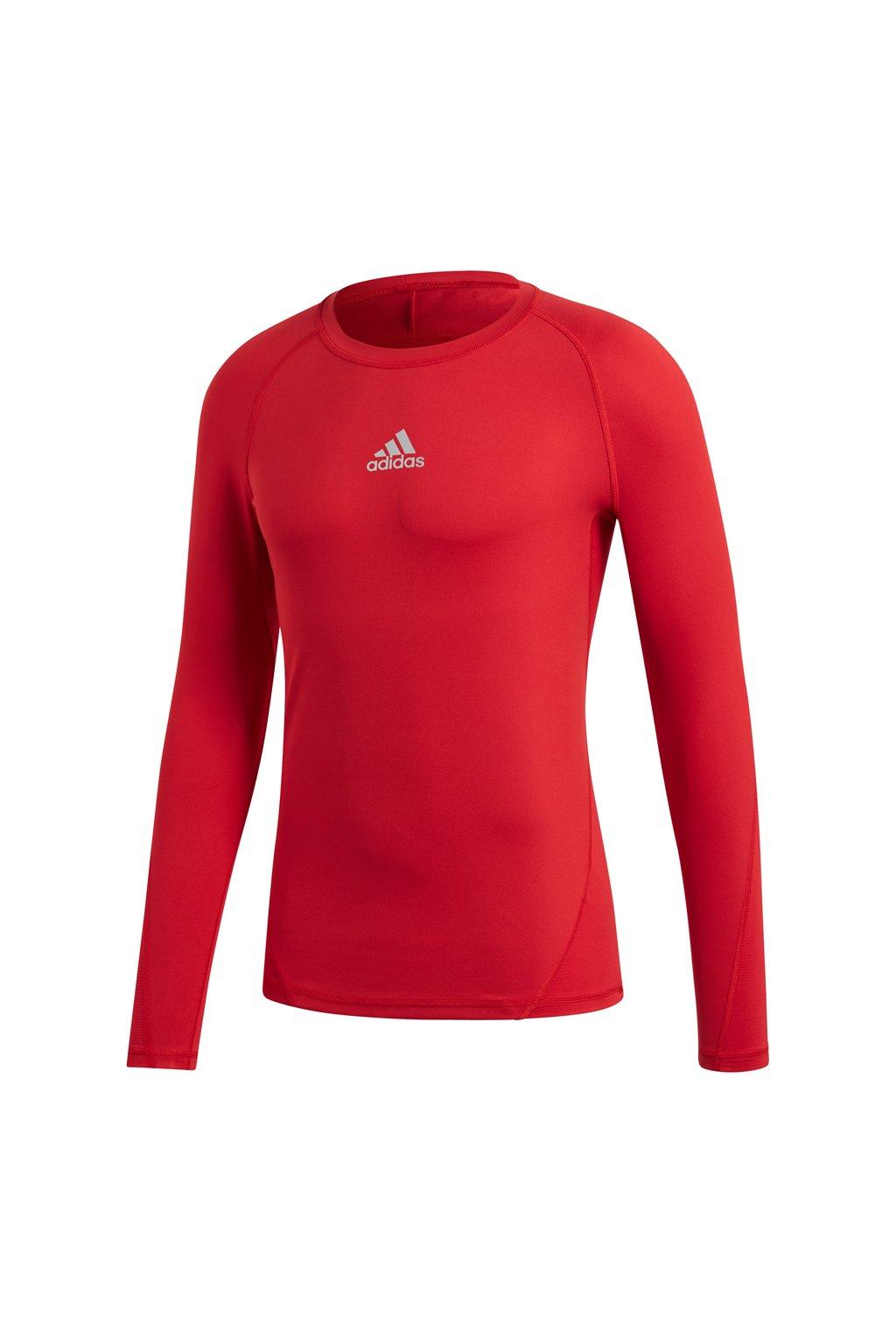 Pánske tričko Adidas Alphaskin Sport LS Tee red CW9490