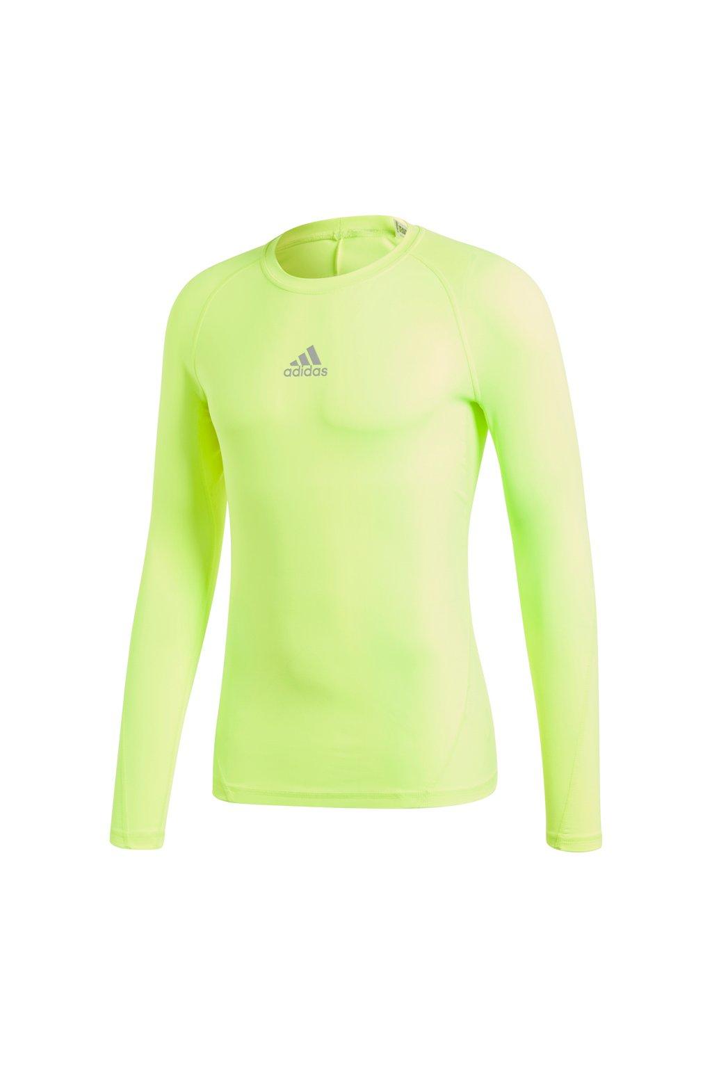 Pánske tričko Adidas Alphaskin Sport LS Tee žltá CW9509