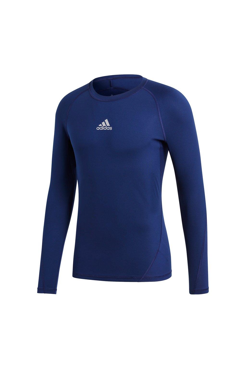 Pánske tričko Adidas Alphaskin Sport LS Tee navy blue CW9489