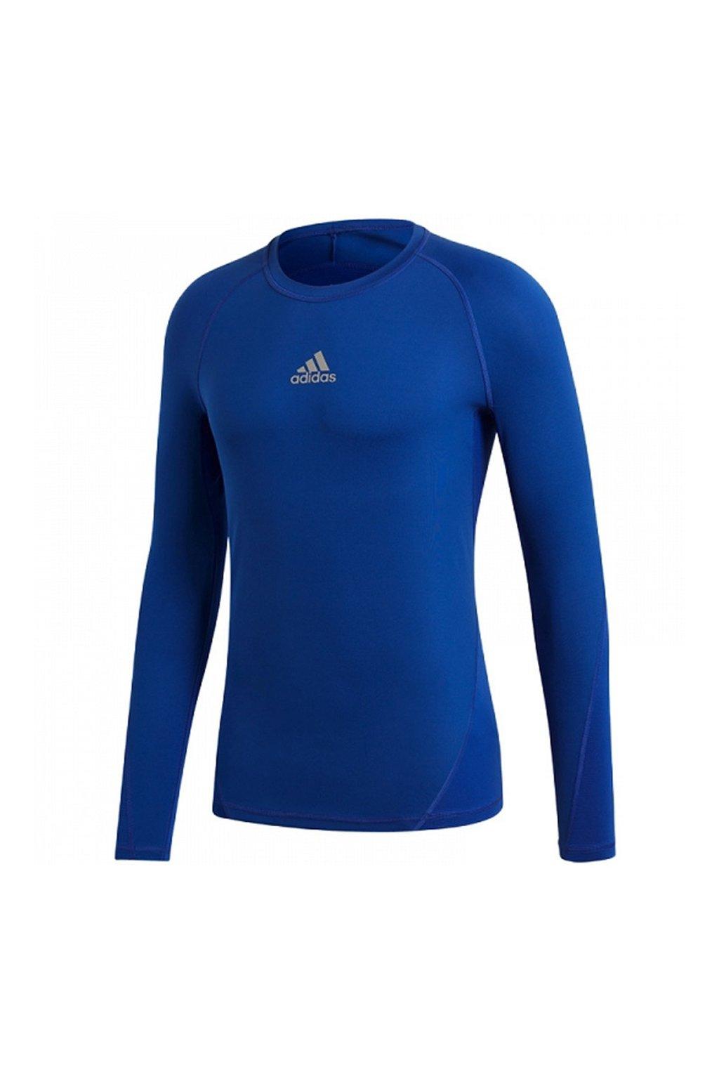 Adidas Alphaskin Sport LS Tee JUNIOR modrá CW7323