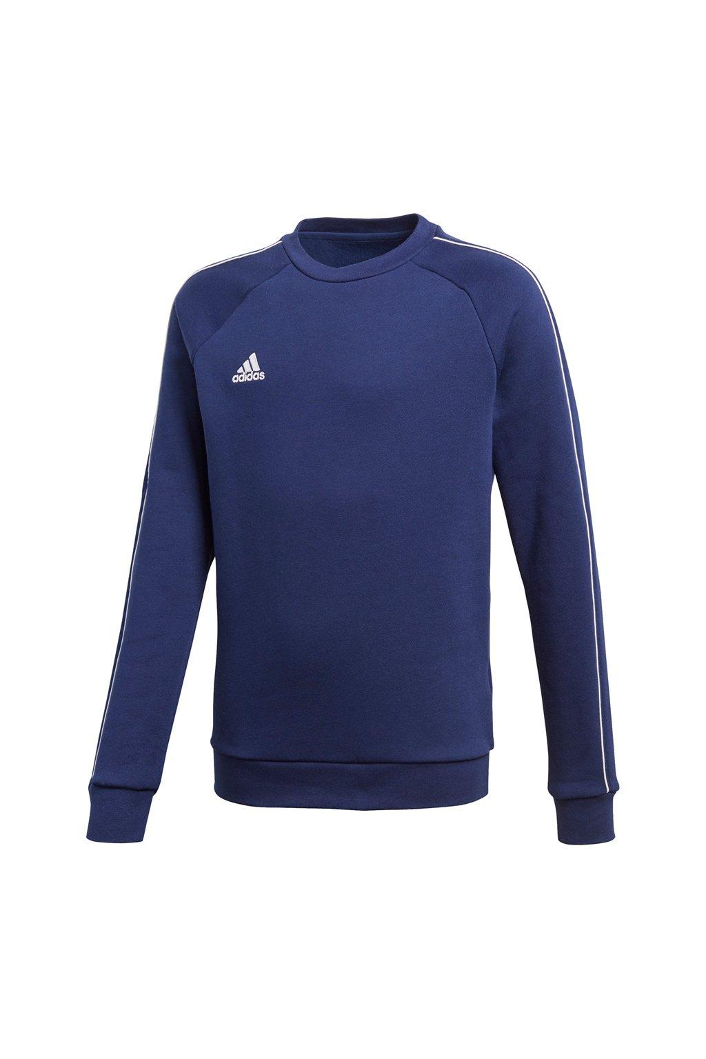 Detská mikina Adidas Core 18 Sweat Top JUNIOR námornícka modrá CV3968