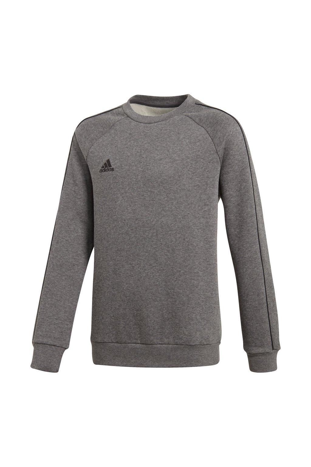 Detská mikina Adidas Core 18 Sweat Top JUNIOR šedá CV3969