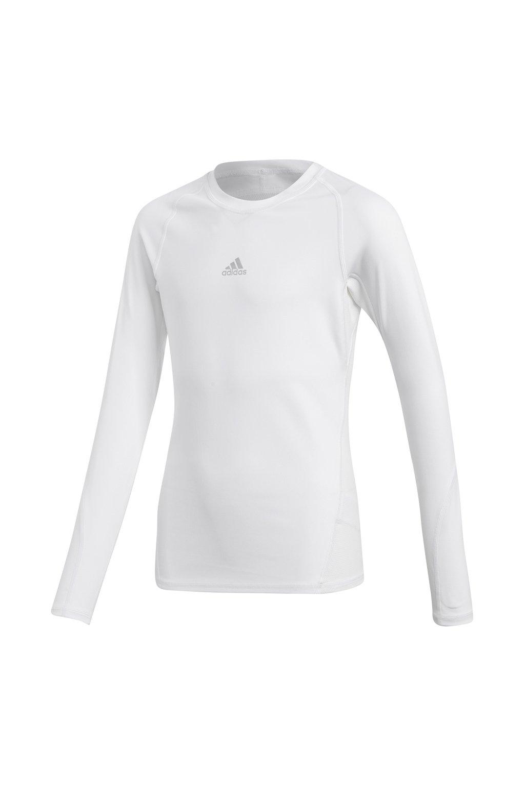 Adidas Alphaskin Sport LS Tee JUNIOR biele tričko CW7325