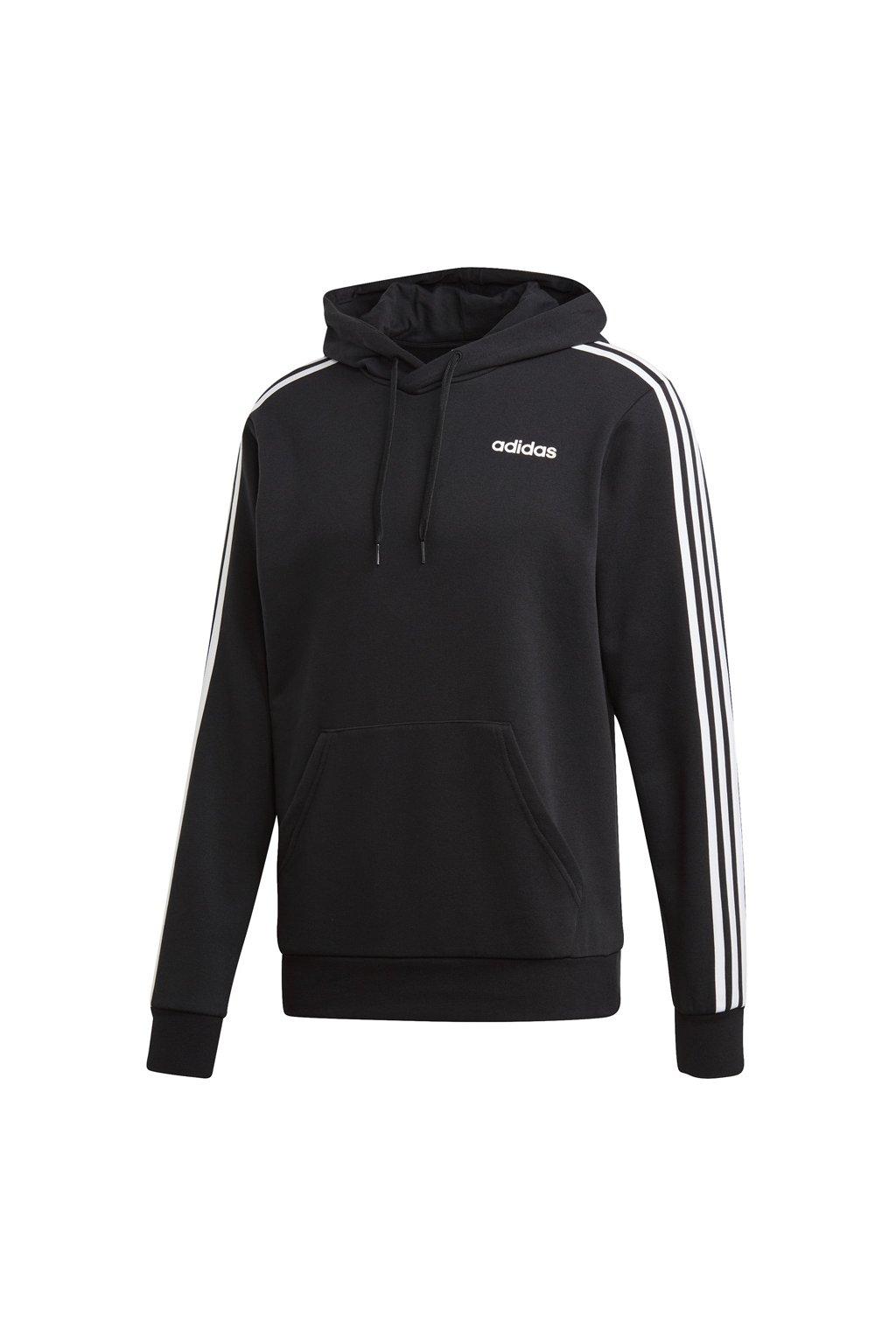 Pánska mikina Adidas Essentials 3 Stripes Pullover French Terry black / black DU0498