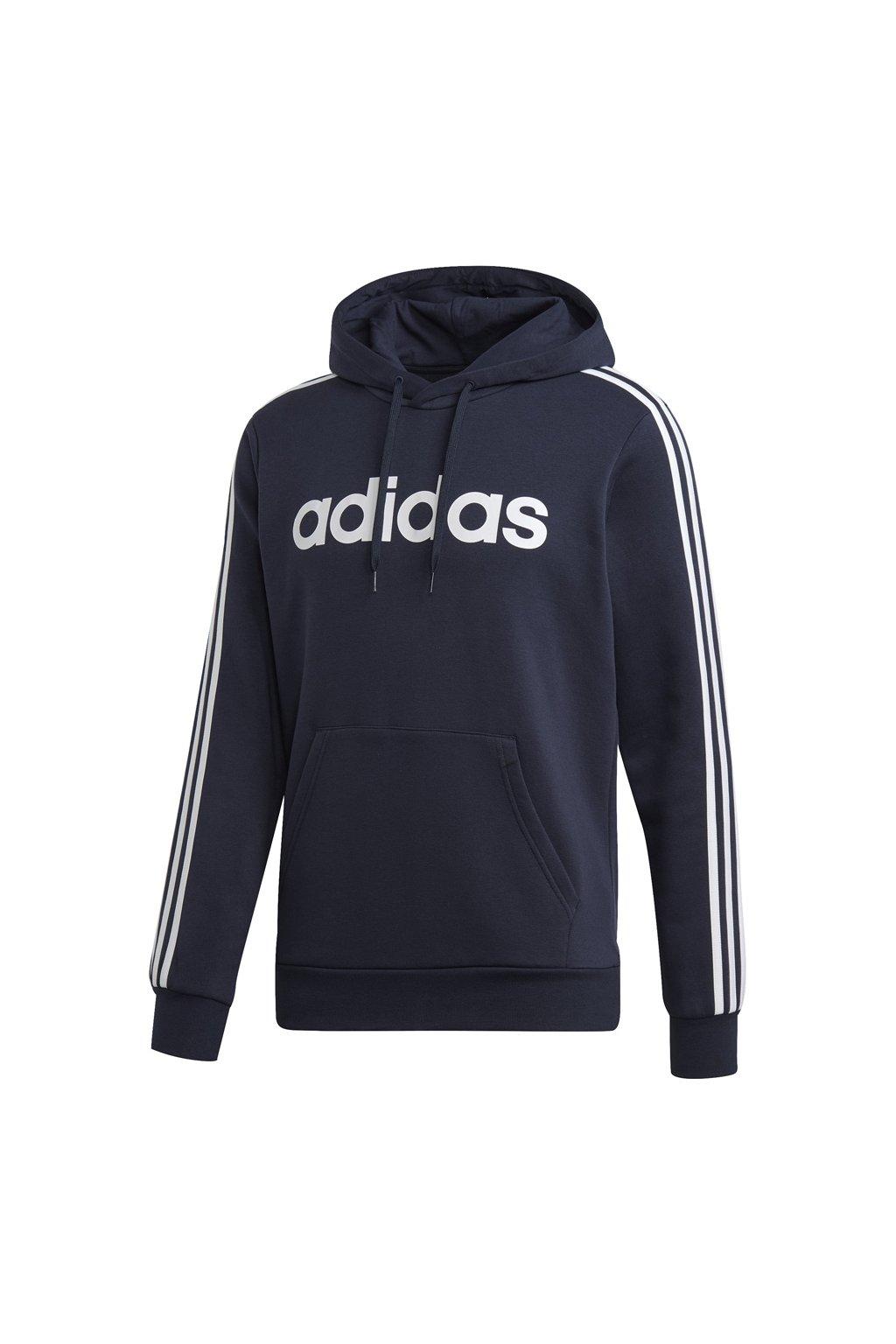 Mikina pánska Adidas Essentials 3 S PO FL / námornícka modrá DU0494