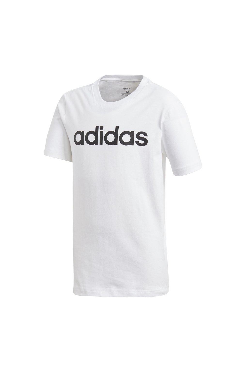 Chlapčenské tričko Adidas Essentials Linear Tee Junior biele DV1810