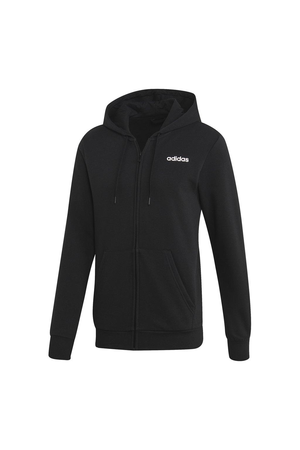 Pánska mikina Adidas Essentials Linear FZ FL / čierna EI9821