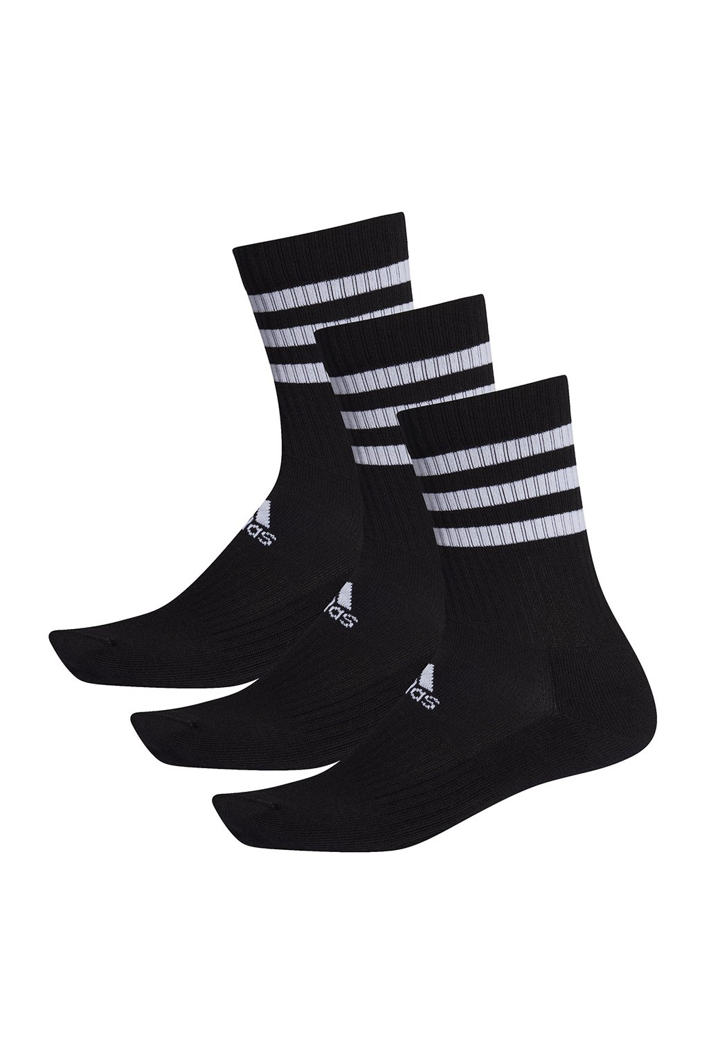 Ponožky Adidas 3S CSH CRW 3 páry čierne DZ9347