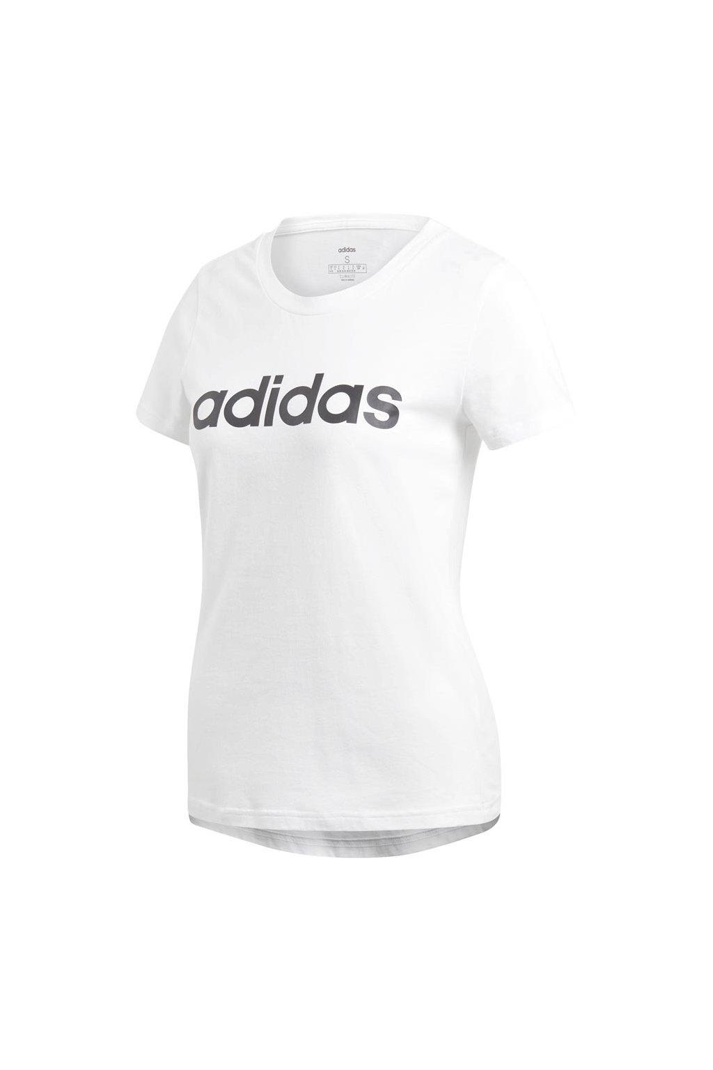 Tričko Adidas Essentials Linear Slim Tee biele DU0629