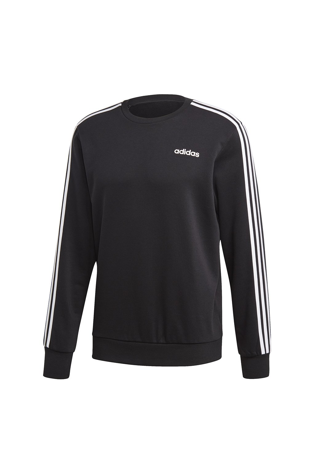 Pánska mikina Adidas Essentials 3 Stripes Crew FT / čierna DQ3083
