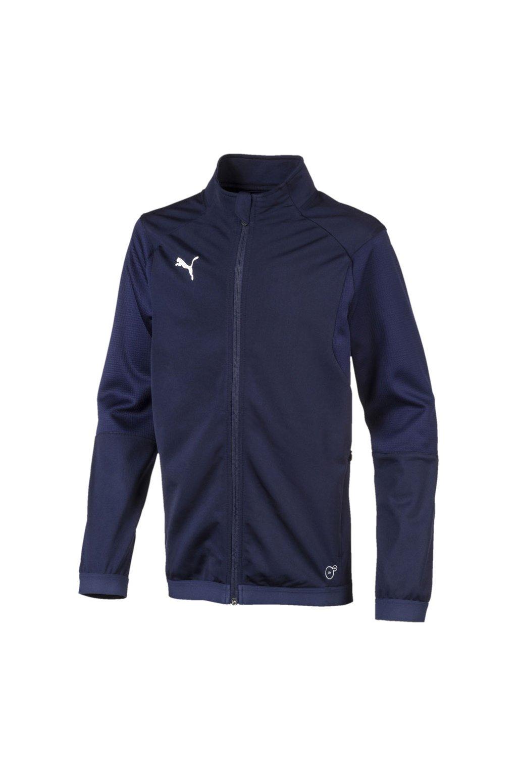 Detská mikina Puma Liga Training Jacket JUNIOR tmavo modrá 655688 06