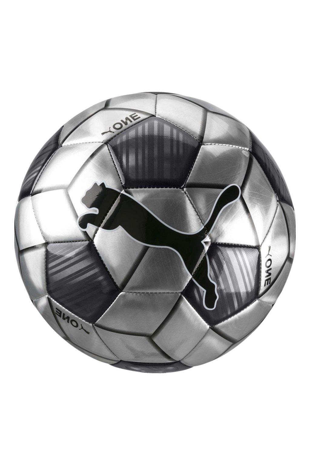Futbalová lopta Puma One Strap sivá 083272 06