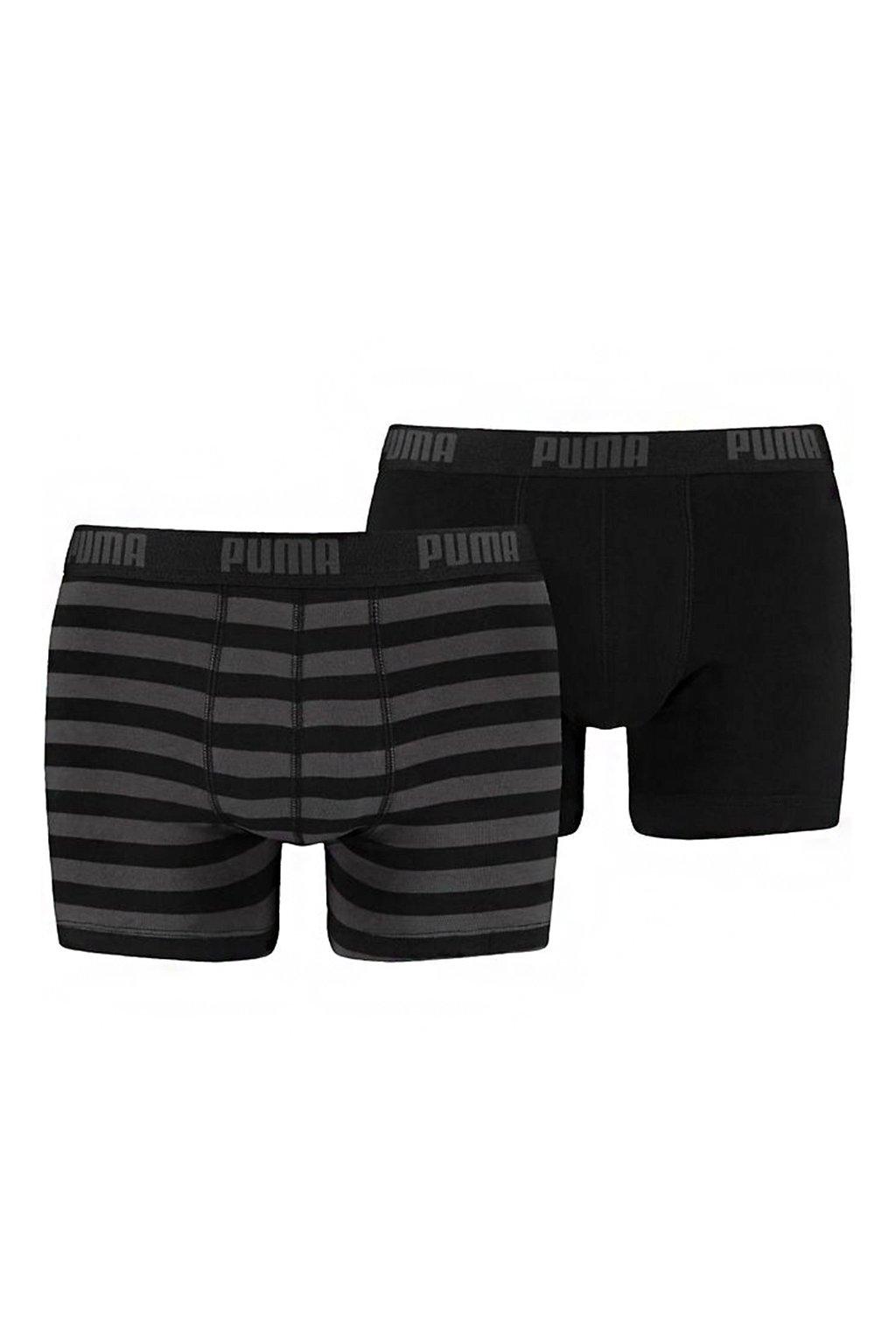 Boxerky pánske Puma Stripe 1515 Boxer 2P čierne 591015001 200