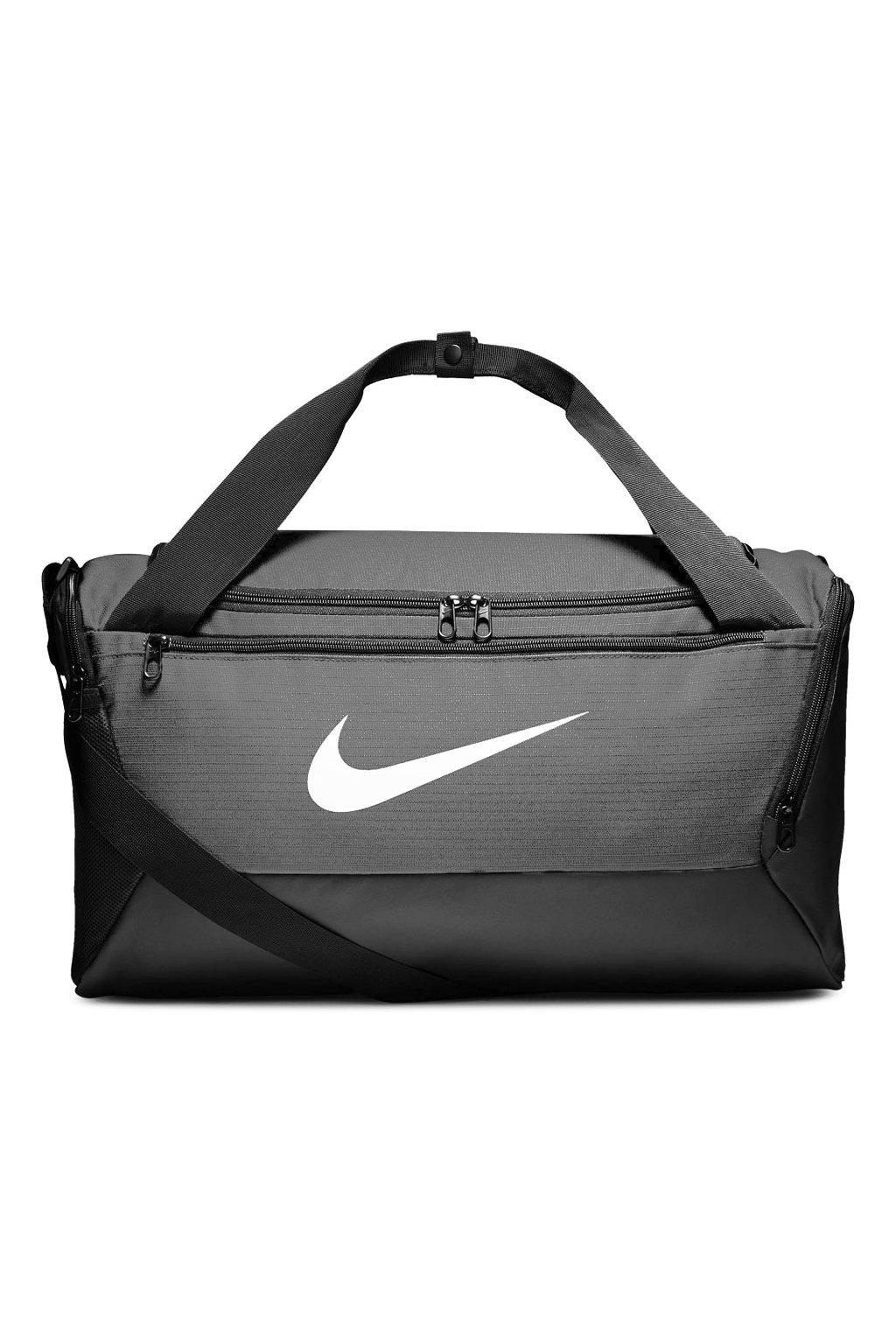 Taška Nike Brasilia S Duffel 9.0 sivá BA5957 026