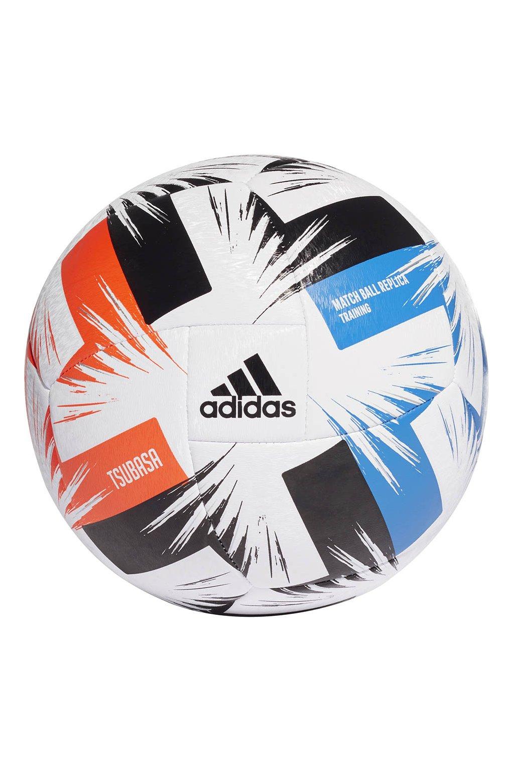 Futbalová lopta Adidas Tsubasa Training bielo-čierno-modro-červená FR8370