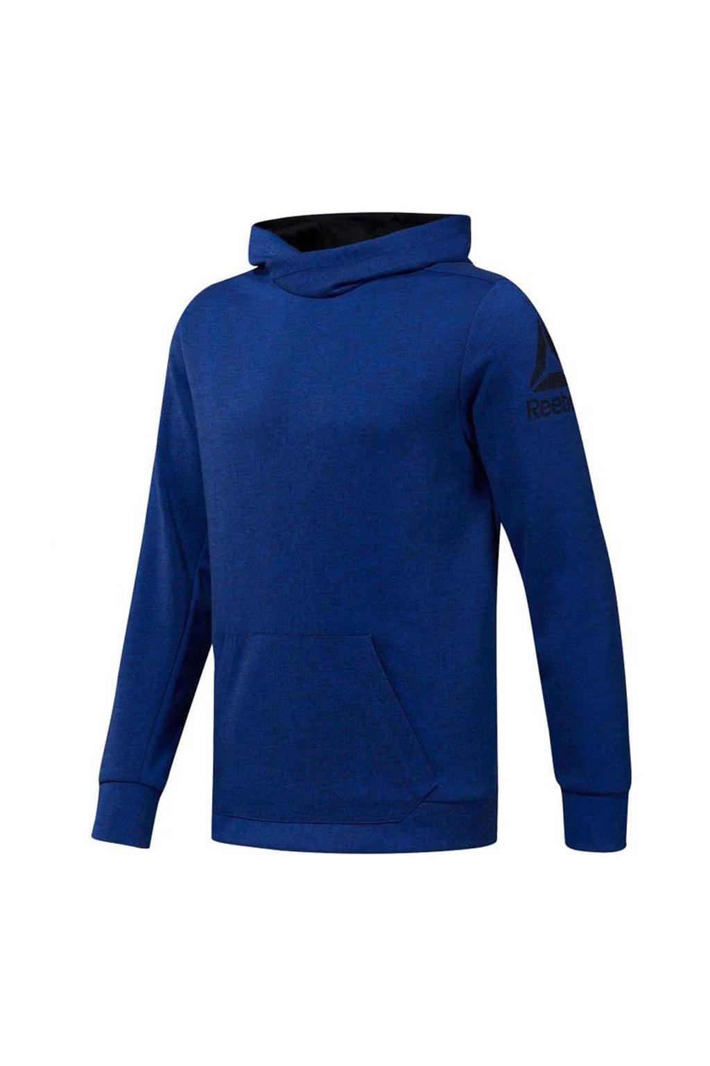Pánska mikina Reebok Workout Doubleknit Hoodie tmavo modrá DU2156