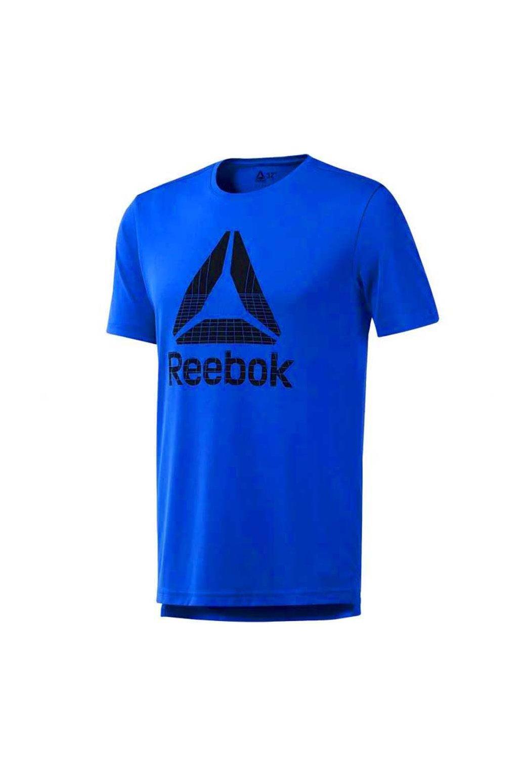 Pánske tričko Reebok Workout Graphic Tech Tee modré DU2177