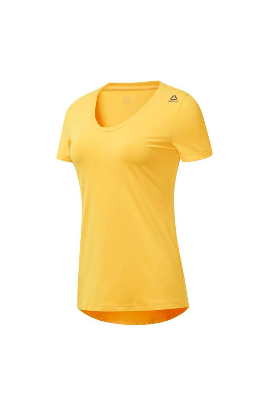 Dámske tričko Reebok Wor SW Tee žlté DX0546
