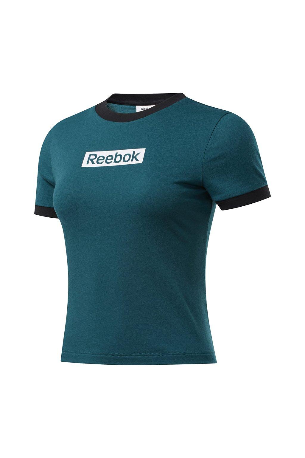 Dámske tričko Reebok Training Essentials Linear Logo Slim zelené FK6679