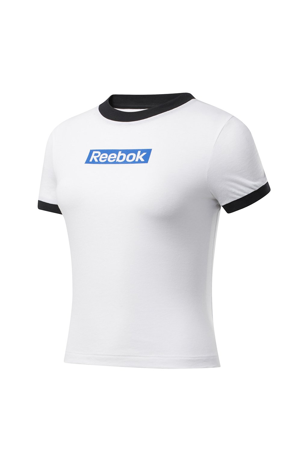 Dámske tričko Reebok Training Essentials Linear Logo Tee bielo-čierne FK6680