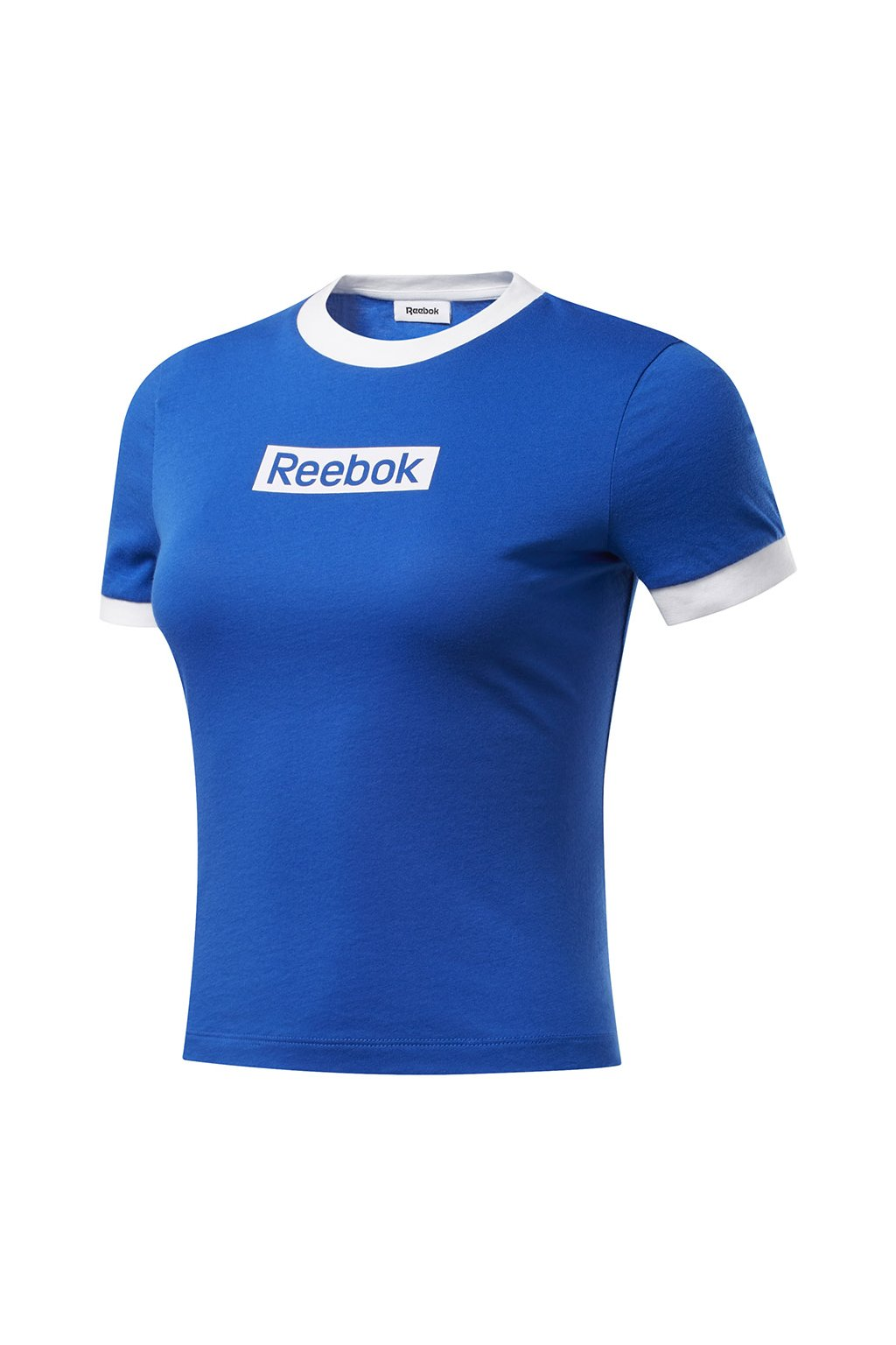Dámske tričko Reebok Training Essentials Linear Logo Tee modro-biele FK6682