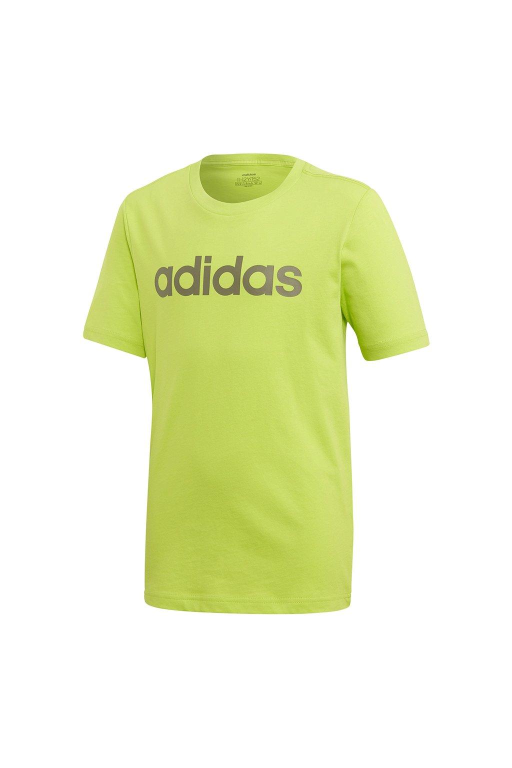 Detské tričko Adidas YB Essentials Linear Tee zelené FM7041