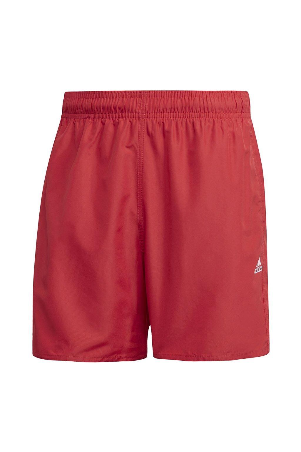 Pánske kúpacie šortky Adidas Solid CLX SH SL červené FJ3380