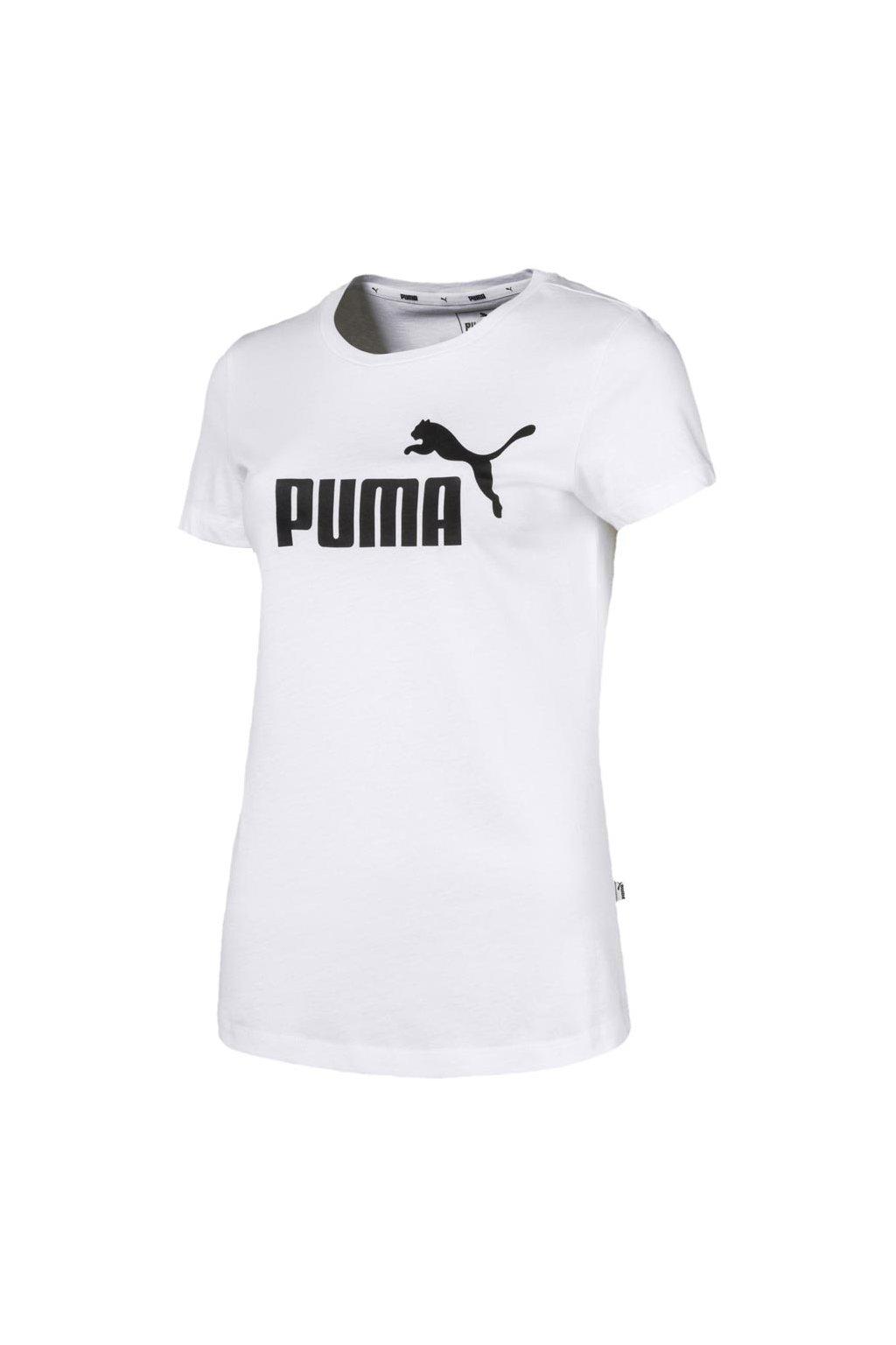 Dámske tričko Puma Ess Logo Tee biele 851787 02
