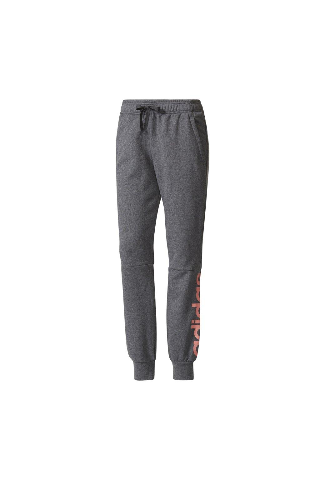 Dámske nohavice Adidas Essentials Lineární sivé BR2530