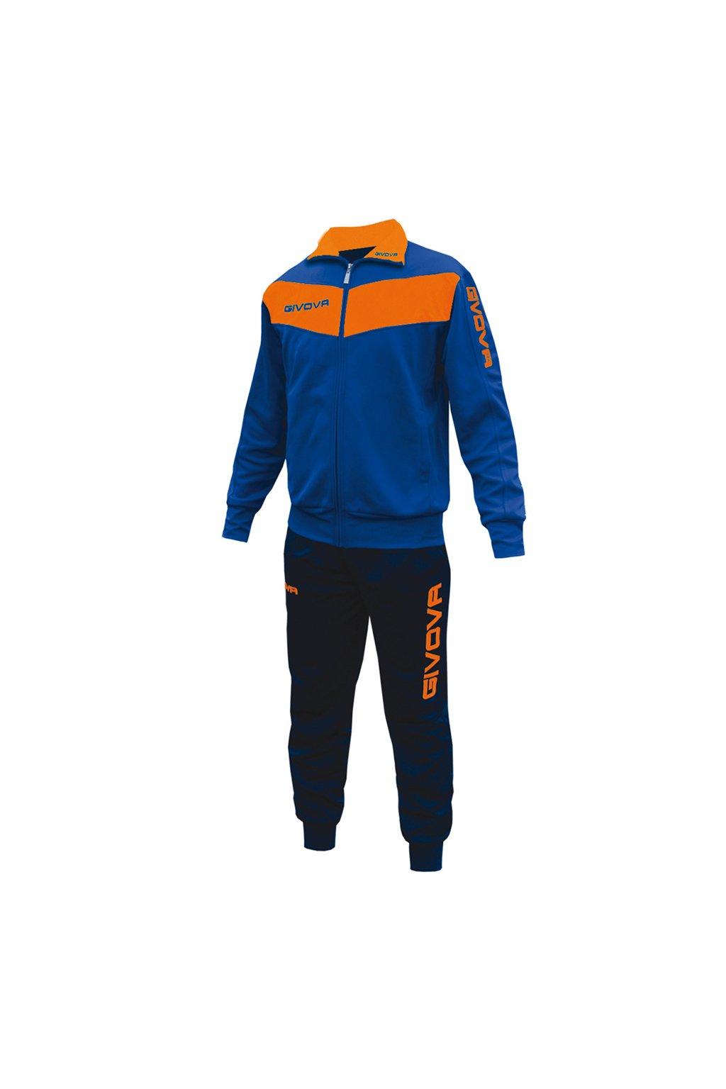 Súprava Givova Tuta Visa Fluo modro oranžová TR018F 0228