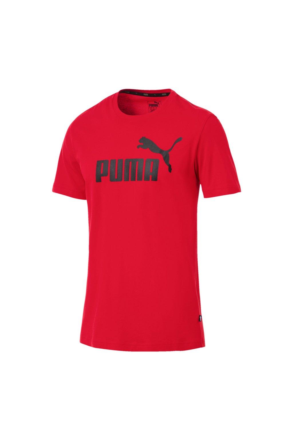 Pánske tričko Puma ESS Logo Tee červené 851740 05