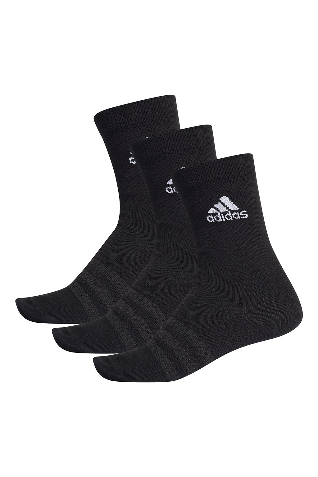 Ponožky adidas Light Crew 3PP čierne DZ9394
