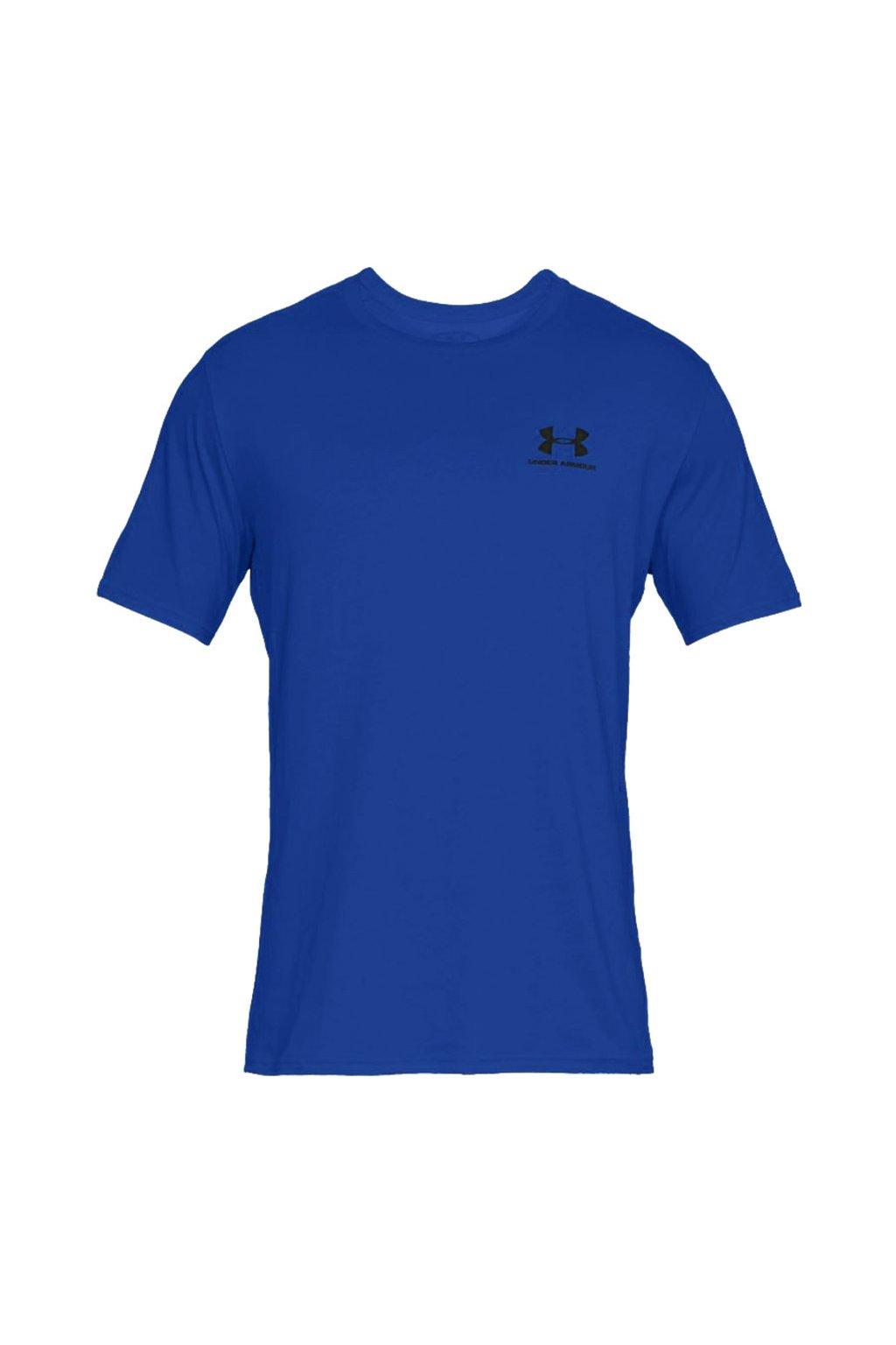 Pánske tričko Under Armour Sportstyle Left Chest SS modré 1326799-486