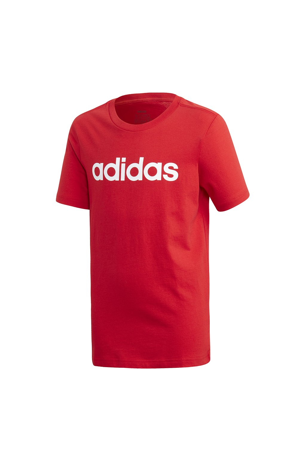 Chlapčenské tričko Adidas YB Essential Linear Tee červené FS9587
