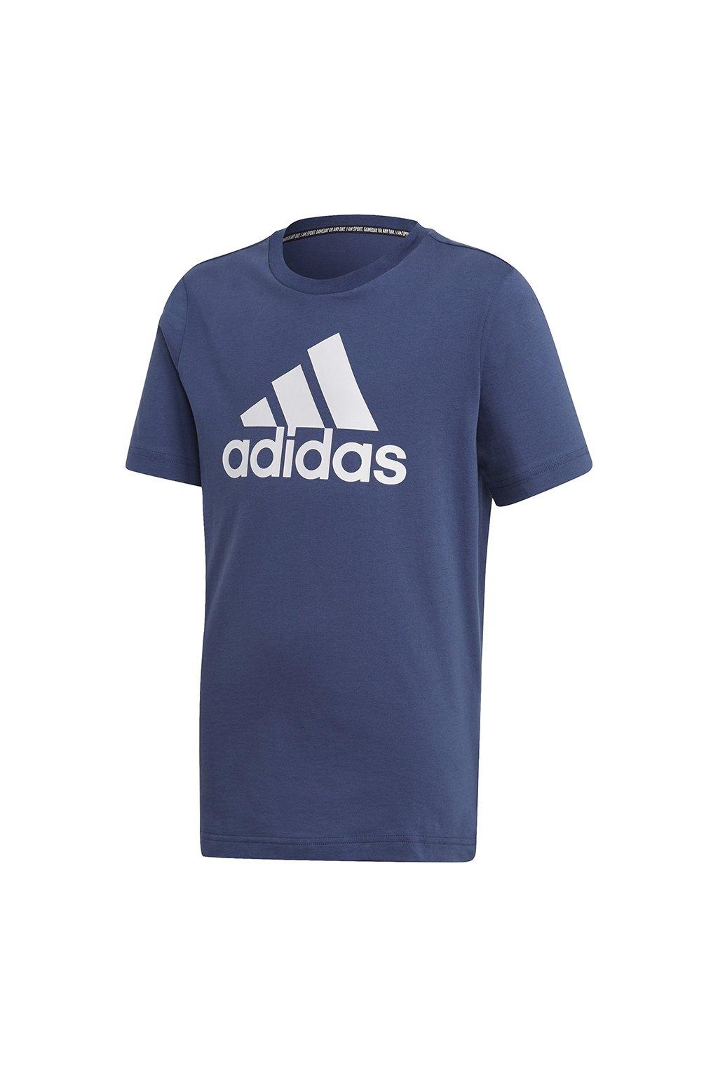 Chlapčenské tričko Adidas YB MH Bos Tee tmavo modré FM6452
