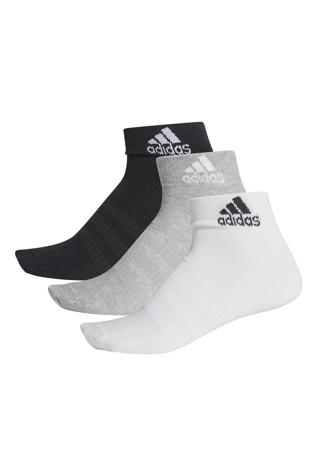 Ponožky adidas Light ANK 3PP čierne-šedé-biele DZ9434