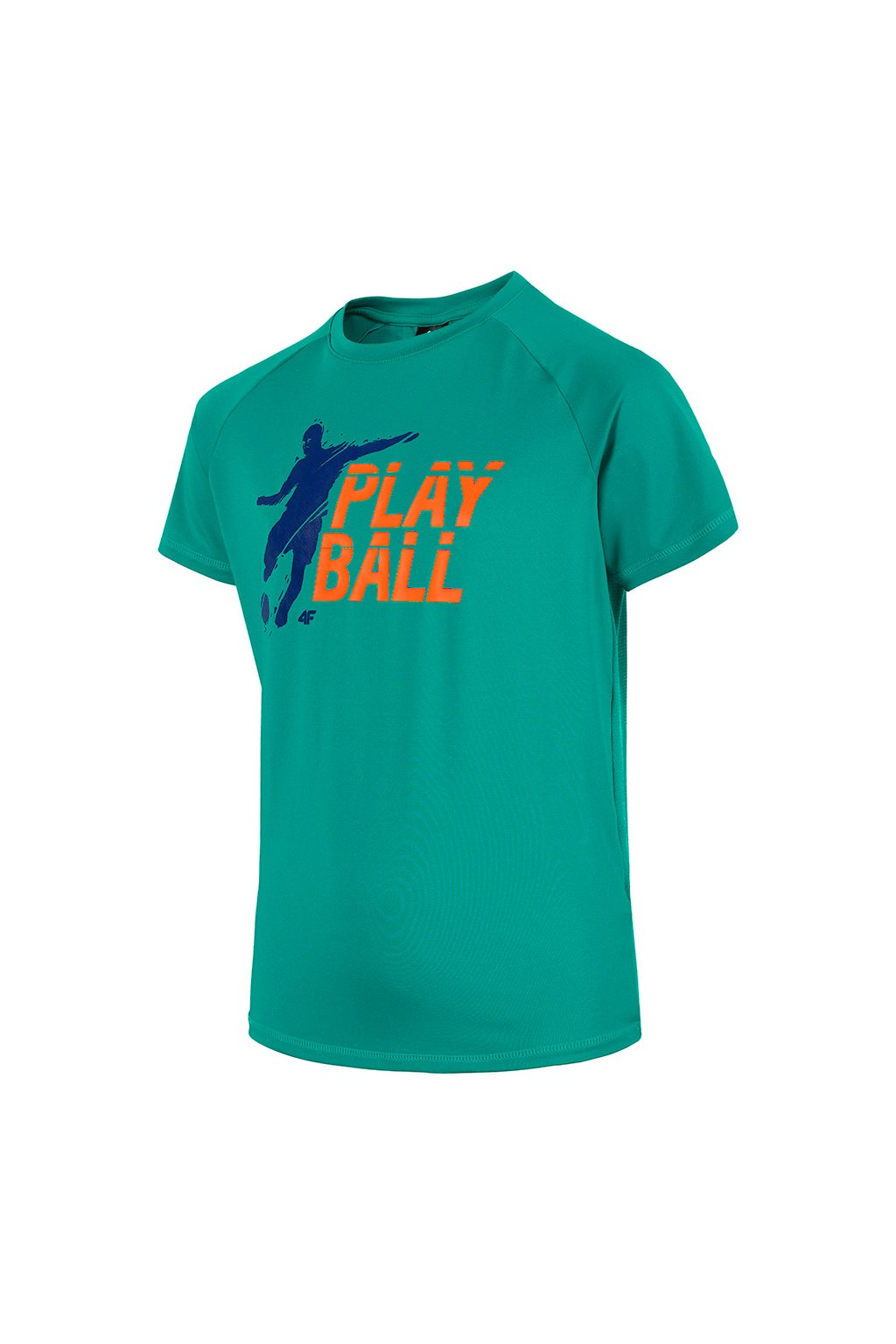 Chlapčenské tričko 4F tyrkysové HJL20 JTSM005 48M